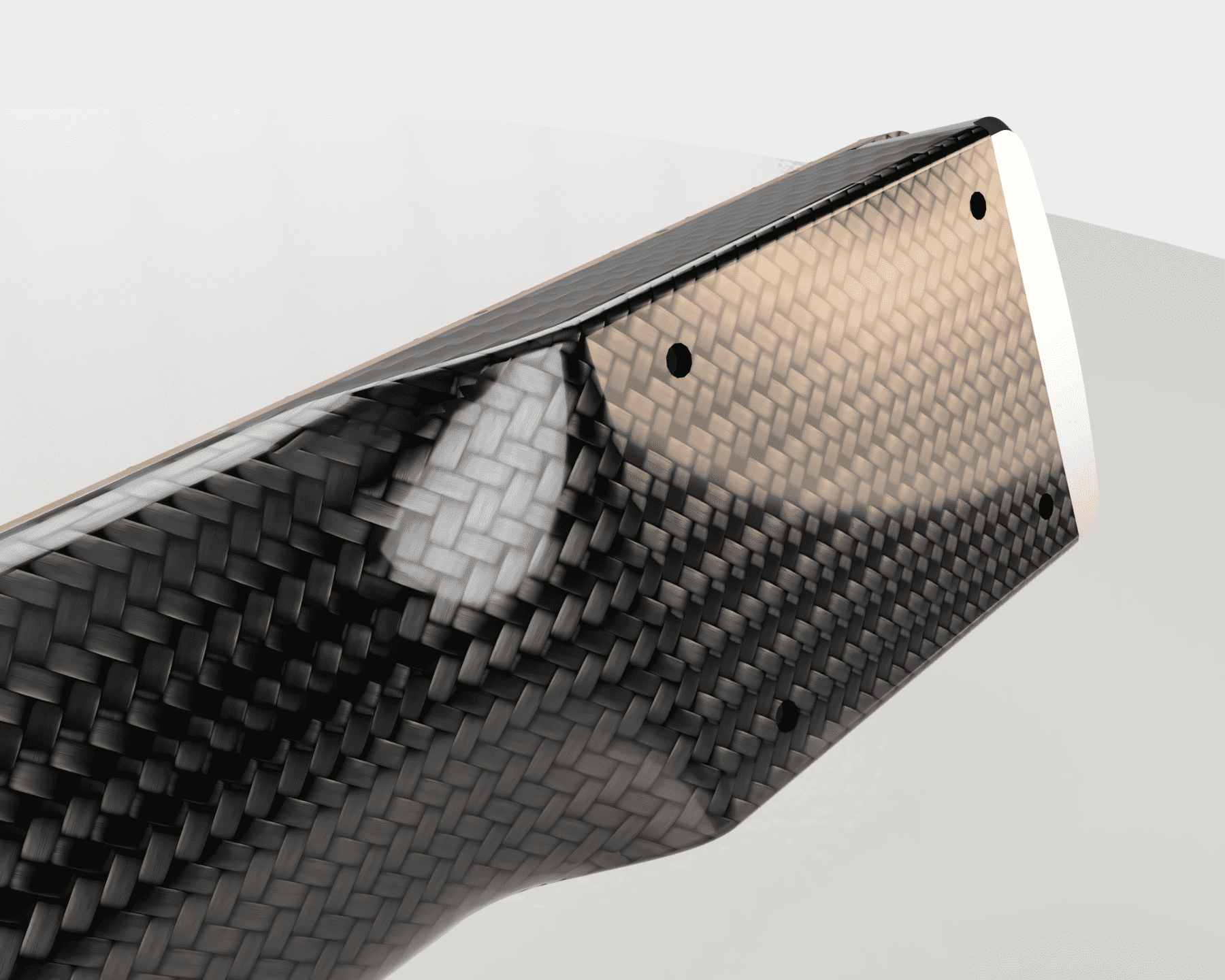 Carbon fibre guitar neck heel